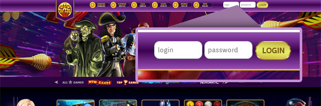 login slot website